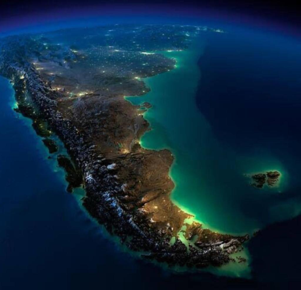 Imagen satelital de la República Argentina