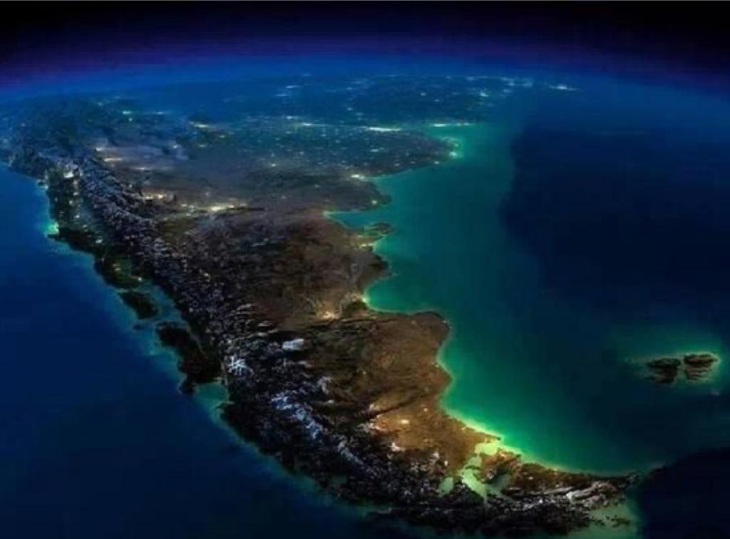 Imagen satelital de la argentina